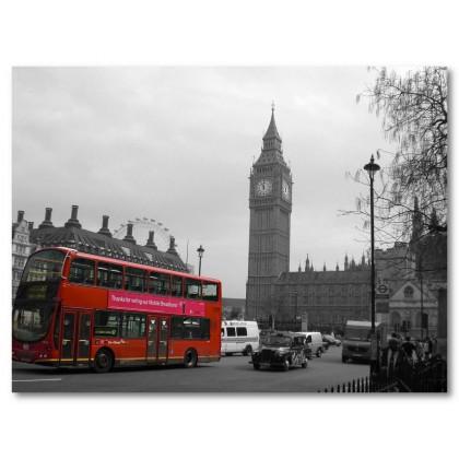 Αφίσα (Λονδίνο, λεωφορείο, μεγάλος, ben)
